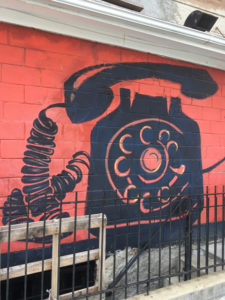 best coffee cities in the United States_Washington D.C._mural_phone
