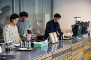 Specialty Coffee in Seoul_anthracite coffee roasters_counter view